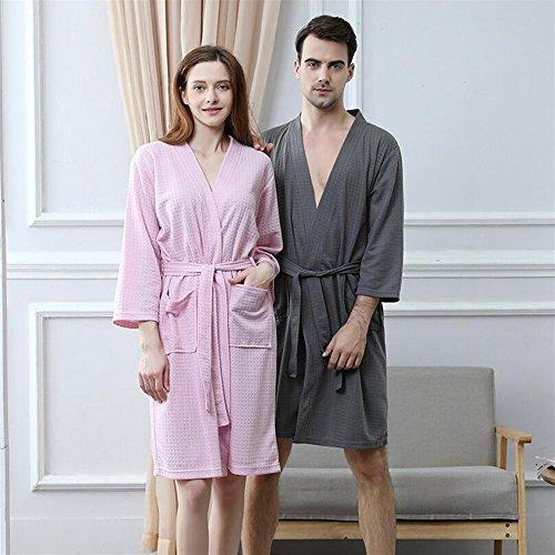 bambina camicia pigiama x lunghe da DDOQ a accappatoio Touch large assorbente Sky da blue maniche Rosa Soft Pq6PtY