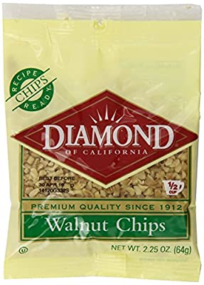 Diamond Walnut Halves, 2.25-Ounce (Pack of 12) from Diamond Nuts of California