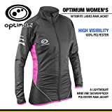 Optimum Women's Nitebrite Cycling Rain Jacket, Black/Pink, 16