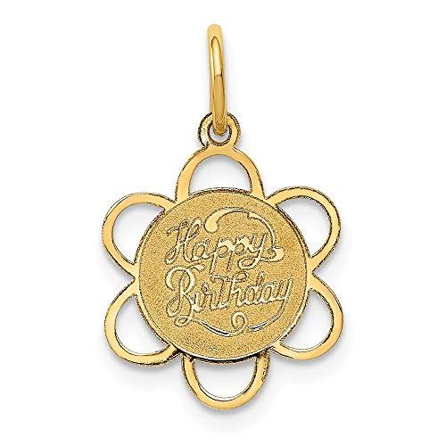 FB Jewels Solid 14K Yellow Gold Happy Birthday Charm