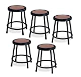 National Public Seating 6218-10-CN 18'' Heavy Duty Steel Stool, Black, Pack of 5