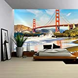 wall26 - Golden Gate Bridge, San Francisco, California, Usa. - Removable Wall Mural | Self-adhesive Large Wallpaper - 66x96 inches