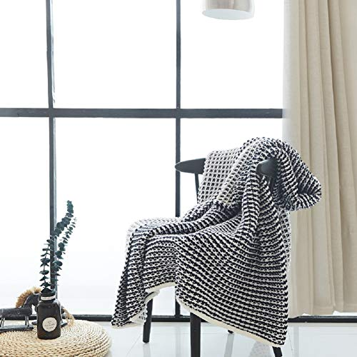 FC Fancy Waffle Knitting Blanket, Classic All Season Soft Cable Sweater Knitting Throw Blanket, Air-Conditioner Sofa Sleeping Blanket, Bedroom Living Room Home Decor 51x62inch