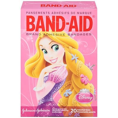Band-Aid Brand Adhesive Bandages featuring Disney Princesses for , Assorted Sizes, 20 Count from Band-Aid