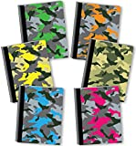 New Generation - Camouflage - Composition Book, 6 Pack, Wide Ruled, 80 Sheets / 160 Pages, 7.5 x 9.75 inches, Heavy Duty Laminated Hard Covers (6 Pack Composition Notebook Wide Ruled)