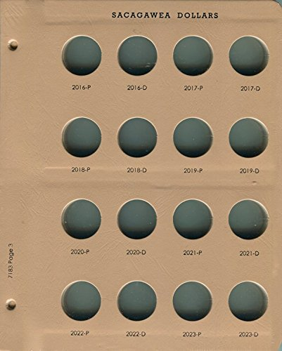 Dansco Page 3 for Sacagawea Dollar Album 7183 2016 - 2023 #7183-3