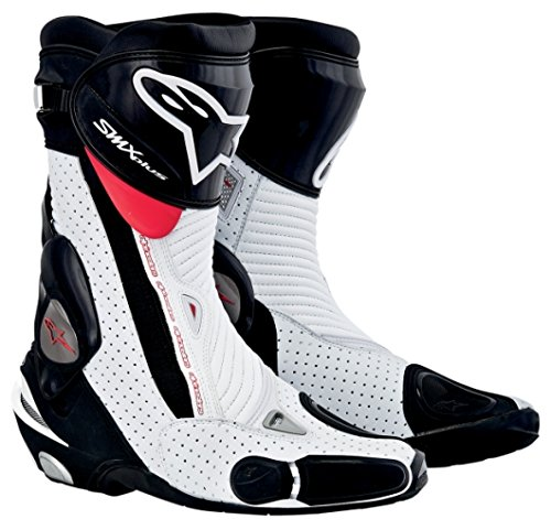 Alpinestars SMX Plus Boots , Gender: Mens/Unisex, Distinct Name: Black/White/Red, Primary Color: Red, Size: 12 2221013-128-47