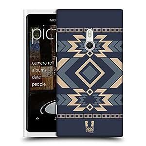 Head Case Designs Acero Azul Neo Navajo Caso Duro Trasero para Nokia Lumia 800 / Sea Ray