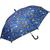 RainStoppers Boy's Sports Print Umbrella, 34-Inch