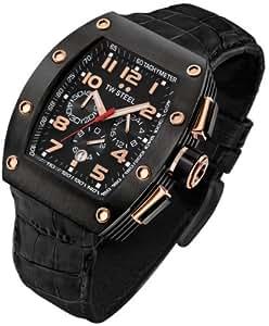 TW Steel CE 2002 - Reloj de cuarzo para hombre con correa de piel, color negro