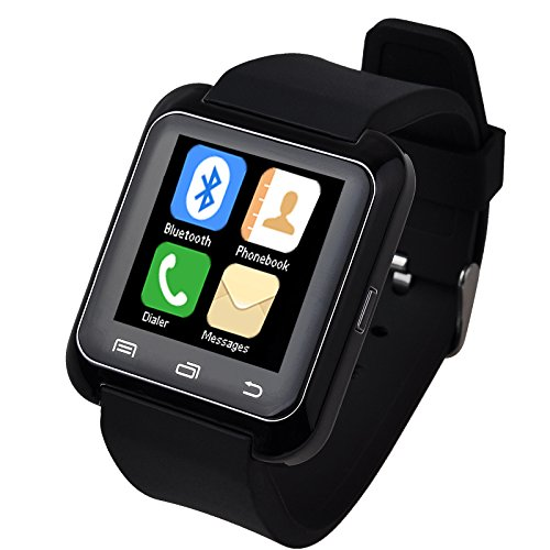 5ive U80 Bluetooth 4.0 Smart Wrist Wrap Watch Phone for Smartphones IOS Android Apple iphone 55C5S66 Puls Android Samsung S3S4S5 Note 2Note 3 Note 4 HTC Sony (Black)