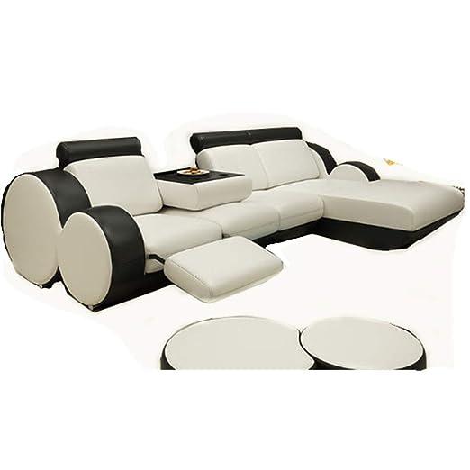 TCJQ - Sofá esquinero para Sala de Estar, sofá de Piel de ...