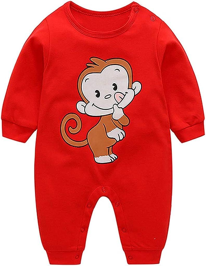 QXLhxuIo Winterkleidung Eingestellt Neugeborene S/äuglingsbaby M/ädchen Junge Karikatur AFFE Spielanzug Overall Kleidungs Ausstattungen Einfach und bequem Spielanzug-Overall-Kleidung