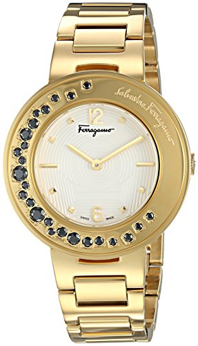 Salvatore-Ferragamo-Womens-Gancino-Sparkling-Quartz-Stainless-Steel-Casual-Watch-ColorGold-Toned-Model-FF5960015