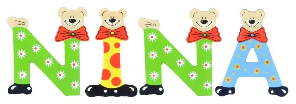 Sortiert Playshoes Kinder Holz-Buchstaben Namen-Set NINA