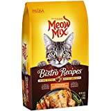 Meow Mix Bistro Recipes Rotisserie Chicken Flavor Dry Cat Food, 3 lb (Pack of 4)