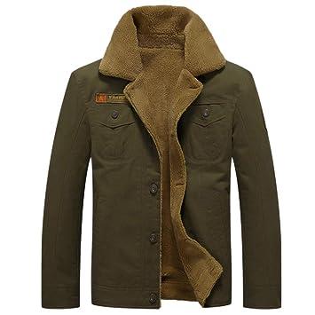 GITVIENAR Herren Winterjacke,Hochwertiges Kunstleder Lederjacke ParkaMantel mit Fell warme Mens Jacket gefüttert übergangsjacke für Jugendliche und