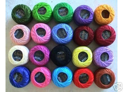 PARAG 20 PEARL COTTON #8 CROCHET THREAD 85 Meters each by PARAG