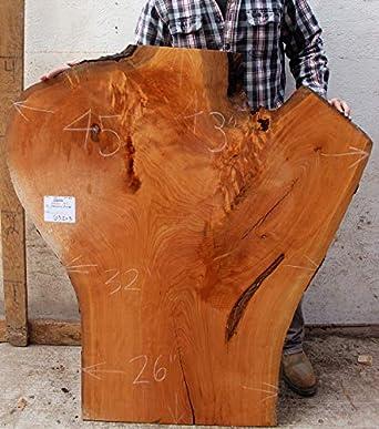 Amazon.com: Live Natural Edge Wood Slab Vanity Cherry Rustic DIY Wooden  Coffee Table Unfinished Raw Kitchen Island Custom Furniture Desktop 6311x3:  ...