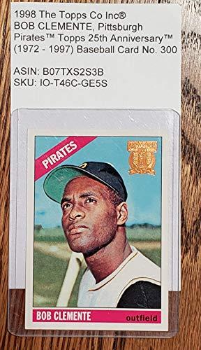 1998 The Topps Co Inc® BOB CLEMENTE, Pittsburgh PiratesTM Topps 25th AnniversaryTM (1972-1997) Baseball Card No. 300