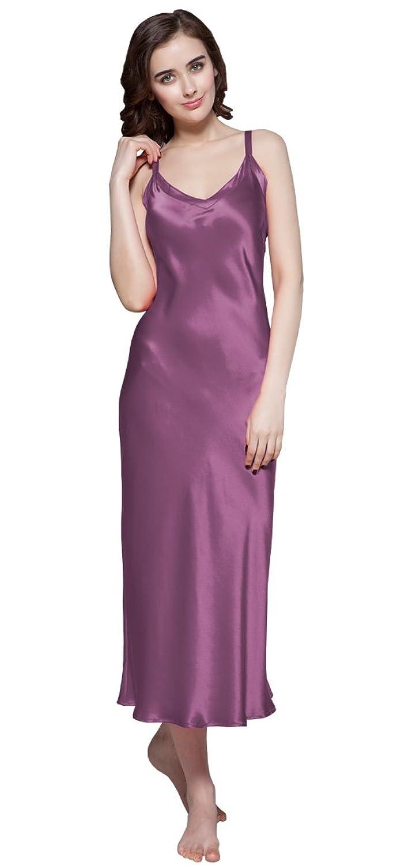 22 Momme Seiden Lang Nachthemd Nachtkleider Nachtwäsche Damen von Lilysilk