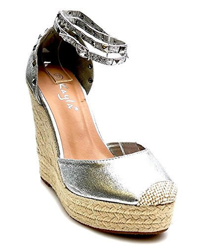 Mujer Sandalias Of plata Shoes King qwZBxptZ