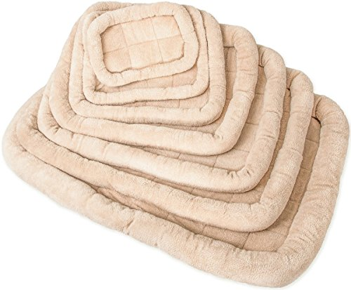 OxGord Paws & Pals Deluxe Bolster Pet Bed for Cat & Dog Crate Bedding Mattress Pad – Soft Quilted Cushion Mat -...