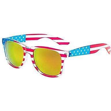 Amazon.com: Gafas de sol con diseño de la bandera de Estados ...