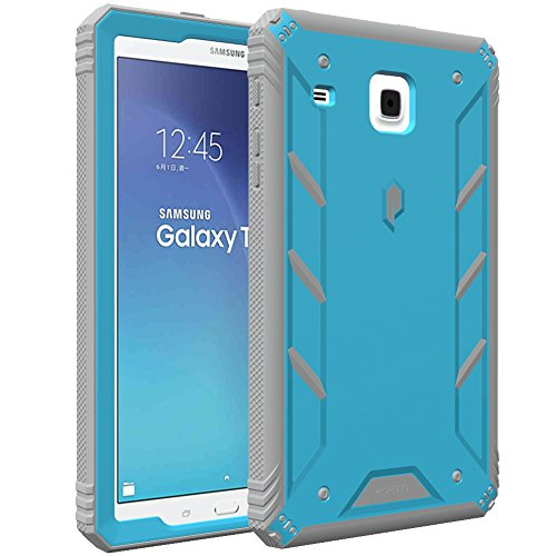 Poetic Galaxy Tab E 8.0 Case, Revolution [Premium Rugged][Shock Absorption & Dust Resistant] Complete Protection Hybrid Case w/Built-in Screen Protector for Samsung Galaxy Tab E 8.0 (2016) Blue/Gray