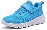 PAMRAY Kids Tennis Shoes Running Athletic Sports Walking Lightweight Sneakers for Boys and Girls