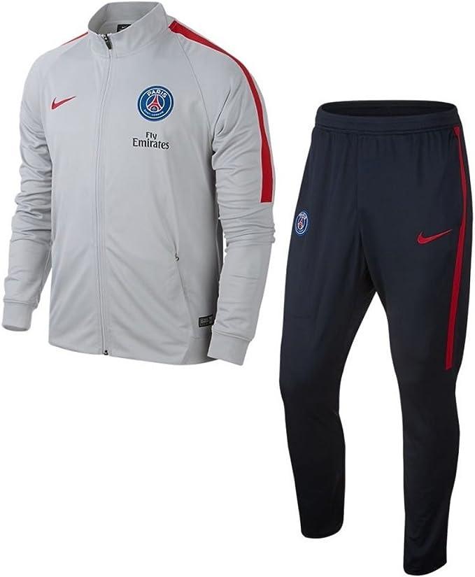 Nike PSG Y Nk Dry Sqd TRK Suit K Chándal París Saint-Germain FC ...