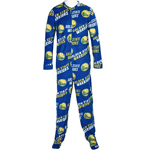 Golden State Warriors NBA Wildcard Unionsuit Pajamas (XX-Large)