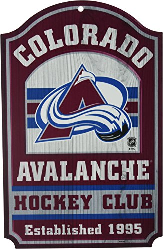 (WinCraft NHL Colorado Avalanche 20256014 Wood Sign, 11