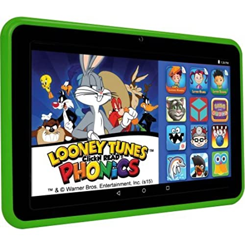 EPIK Learning Tab 7 Kids Tablet 16GB Intel Atom Z3735G Quad-Core Processor, Green / Back 2MP webcam and front 0.3MP webcam with Coupons