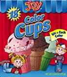 Joy Cone Color Cup Cone, 18-Count (Pack of 8)