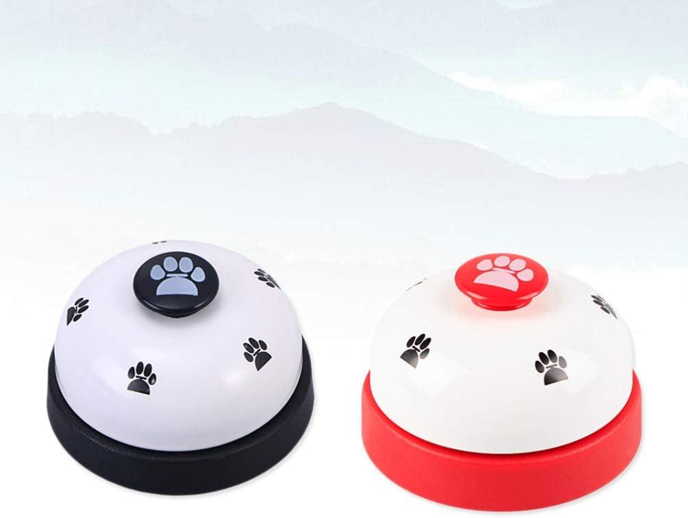 POPETPOP 2Pc Puppy Training Bells Footprint Pattern Small Durable Puppy Training Bells Dog Training Bells for Training Puppy Dogs