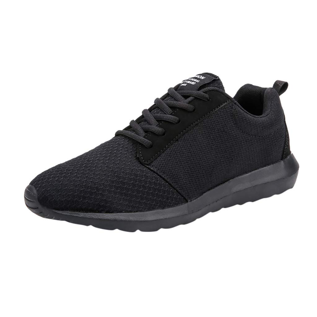 Black Xinantime Women's Athletic Walking shoes Casual MeshComfortable Work Sneakers LaceUp Casual shoes