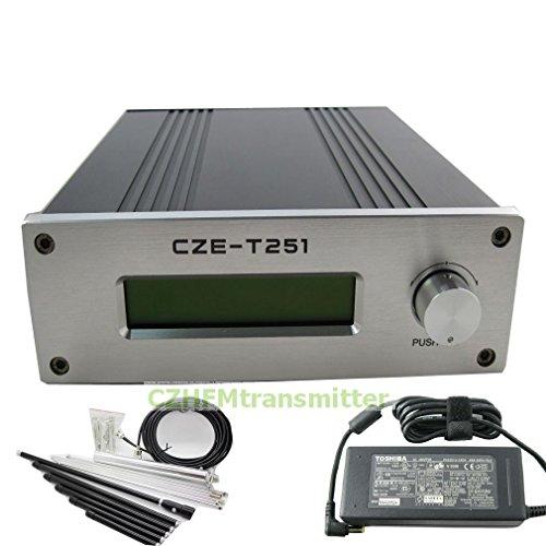 CZH CZE-T251 25w Fm Transmitter Broadcast 0-25w Power Adjustable 87-108mhz 1/4 Wave Antenna Nj Kit by CZH