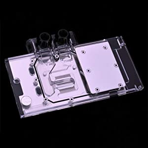 B BYKSKI RGB PC Full-Cover GPU VGA Water Cooling Block Compatible/Replacement for ASUS RX480 4G RX580 Dual O8G
