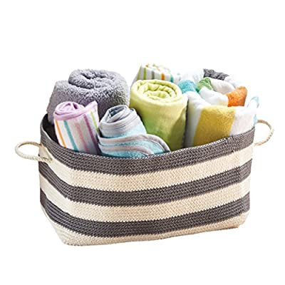 mDesign Knit Closet Storage Organizer Bin