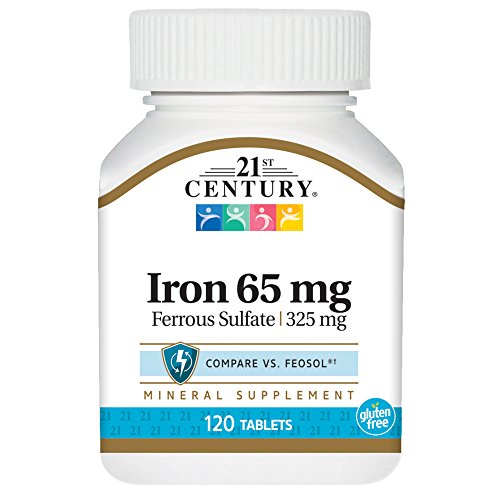21st Century Iron 65 mg Ferrous Sulfate 325 mg Tablets, 120