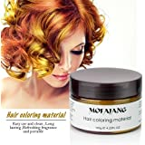 Instant Gold Hair Color Wax, Efly Temporary Hairstyle Cream 4.23 oz Hair Pomades Hairstyle Wax for Men and Women (gold)