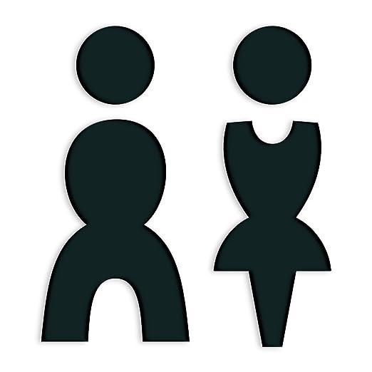 WC Cartel para puertas autoadhesivos Mujer Hombre Acrílico ...