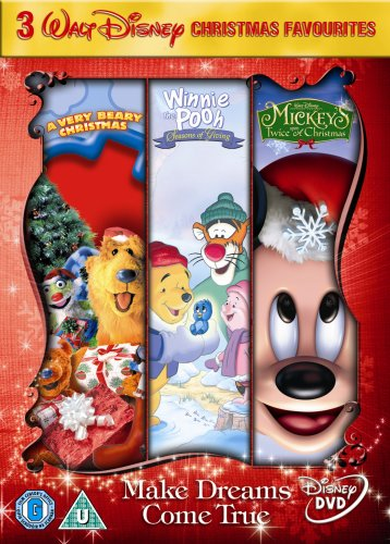 mickeys twice upon a christmaswinnie the pooh seasons of dvd amazoncouk mickey twicewinnie the pooh seasons dvd blu ray - A Walt Disney Christmas Dvd