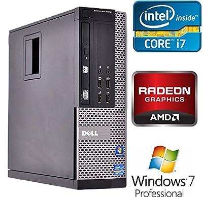Dell Optiplex 9010 SFF Business Desktop PC, Intel Core i7 Quad Core Processor, 16GB DDR3 RAM, 500GB HDD, DVD+/-RW, AMD Radeon HD 7570, Windows 7 Professional (Certified Refurbished)