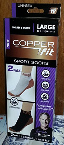 Copper Fit Sport Socks Large