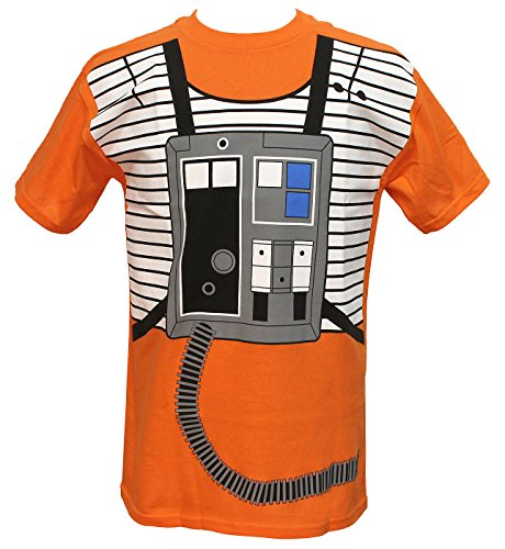 Star Wars I Am Luke Skywalker Flight Suit Mighty Fine Adult Costume T-Shirt Tee Small]()