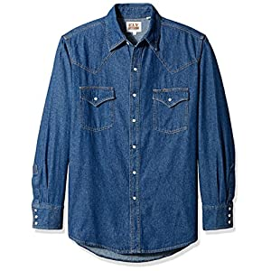Men's Long Sleeve Denim Western Shirt