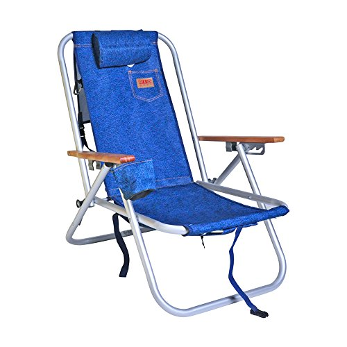 (Deluxe Rio Aluminum Backpack Chair with Large Storage Pouch)