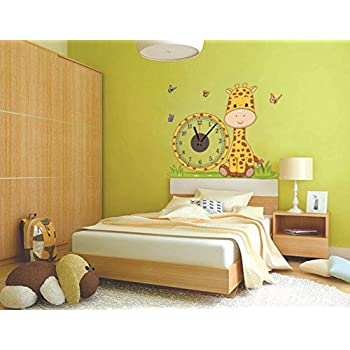 Amazon.com: Giraffe Creative DIY Clock Wall Sticker Clock Wall ...